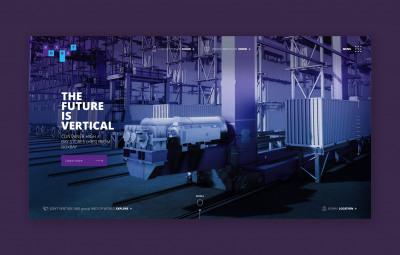 Digitale Markteinführung des ersten Hochregallagers für Seecontainer.